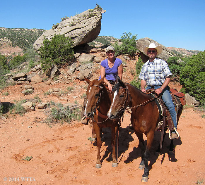 Palo Duro Canyon regulars, Chris and Christie Shippy, show us the trails.