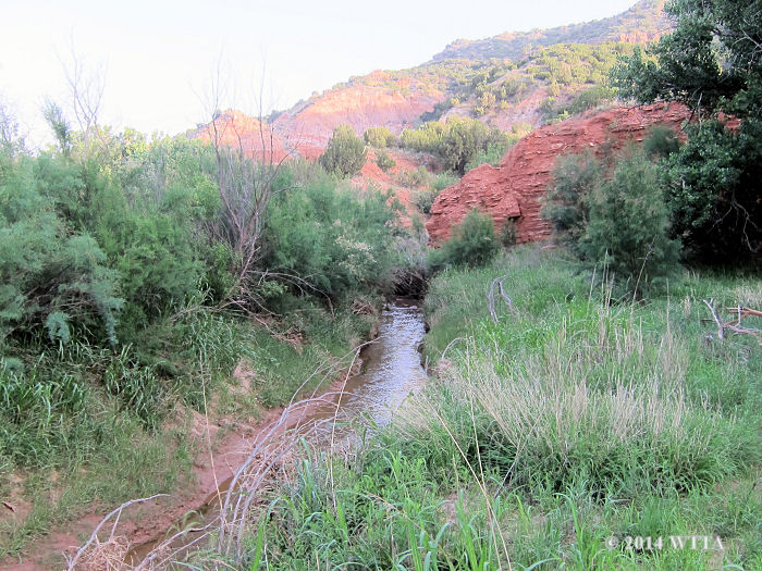 Equestrian Trail creek at Palo Duro Canyon State Park.