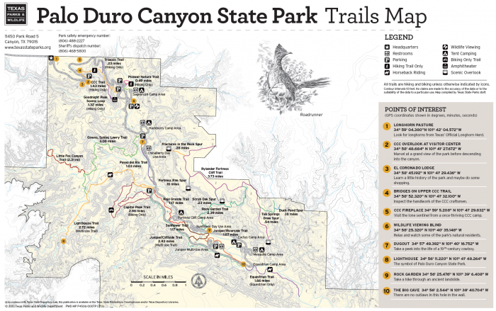 PDC trail map