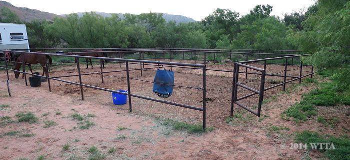 Horse pens at Palo Duro Canyon State Park.