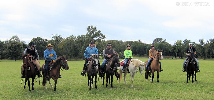 NETASA, American Indian Horse trail riding club, enjoys Trace Trails in November.