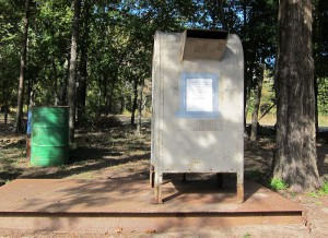 Fee drop box is done by the honor system at Trace Trails.