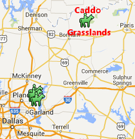 Caddo Grassland map