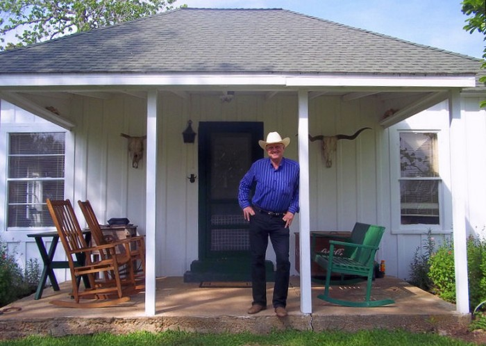Mr. Peter Heyne, owner of Heyne Ranch.  Photo provided by Lin Sutherland.