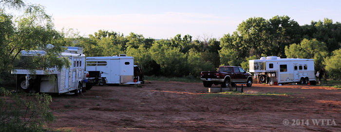 Equestrian campsite at Palo Duro State Park.