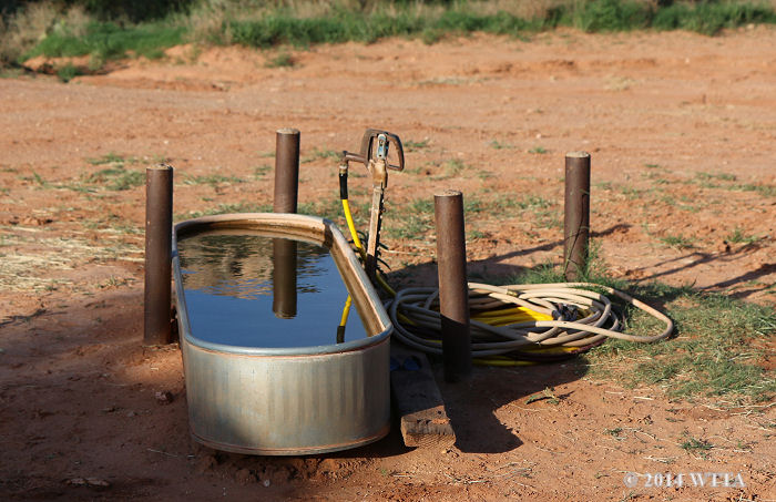The water pump and trough is in the middle of the horse camping area at Palo Duro State Park and there is also a water pump/facet by the horse pens as well.