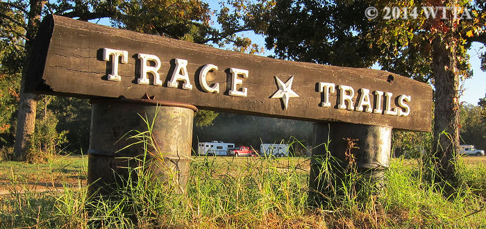 Trace Trails entrance sign.