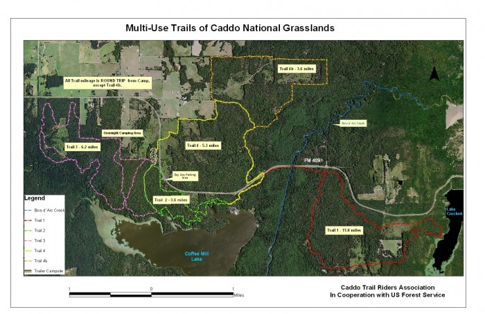 Caddo trail map