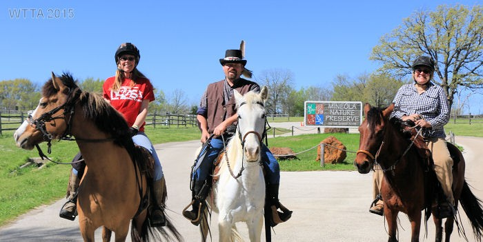 Kelly Hurd, Curtis George, and Patricia Leopold ready to enjoy a day at Mineola Nature Preserve.