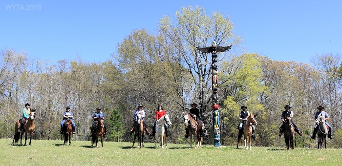 N.E.T.S.A American Indian Horsing riding club getting a group photo at Mineola Nature Preserve.