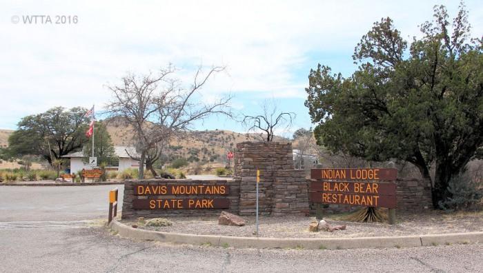 Davis Mountains SP main headquarters entrance.
