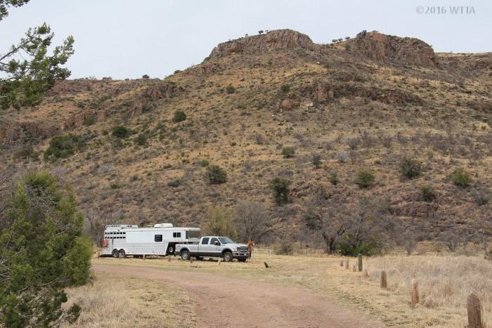 Limpia Canyon equestrian use area.